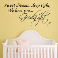 Sweet Dreams Goodnight Baby / Childrens ~ Wall sticker / decals